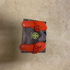 Tory Burch Miller Sandal Poppy Red Size 7